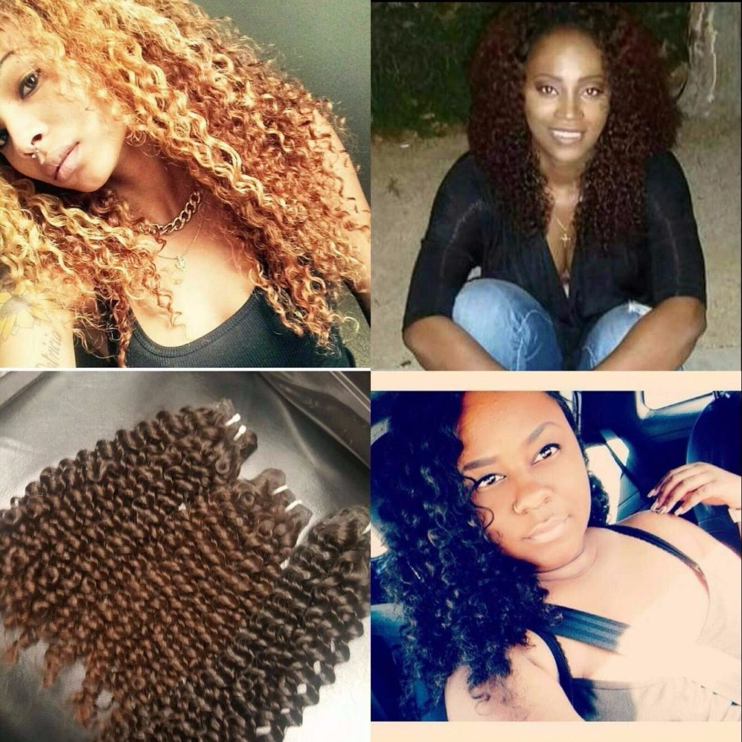 Kinky Curly Hair Installed