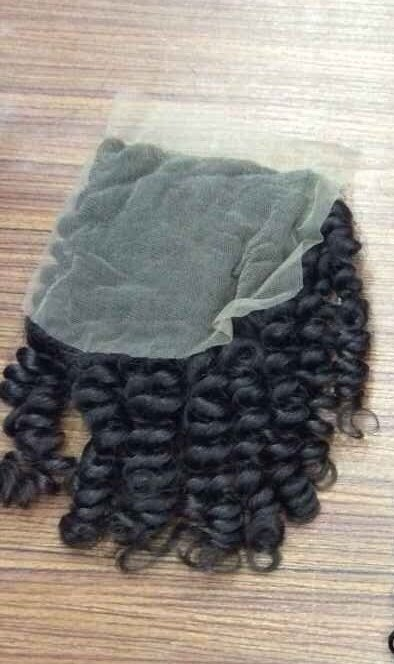 kinky curly hair closure lace side