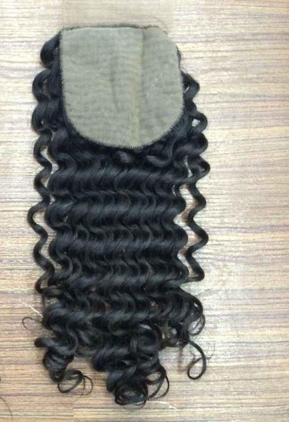 kinky curly hair closure silk base side