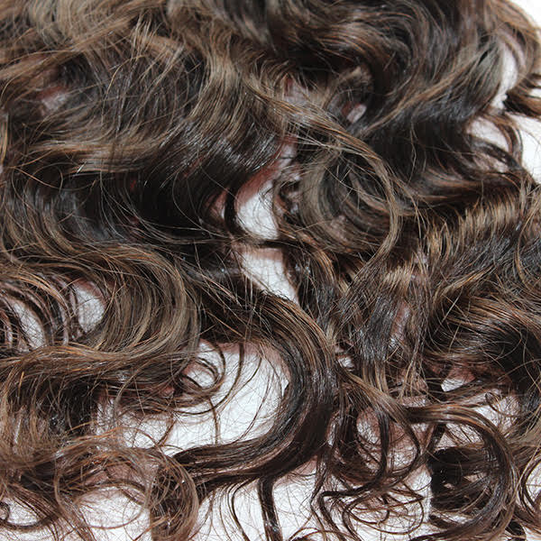 Deep Wave Human Hair closure up close