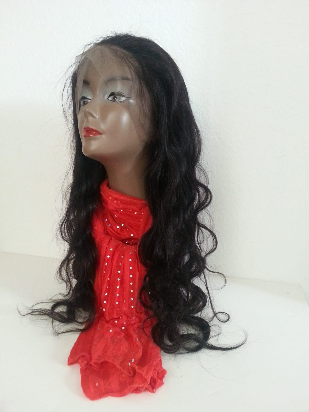Body wave 360 human hair lace closure front view black