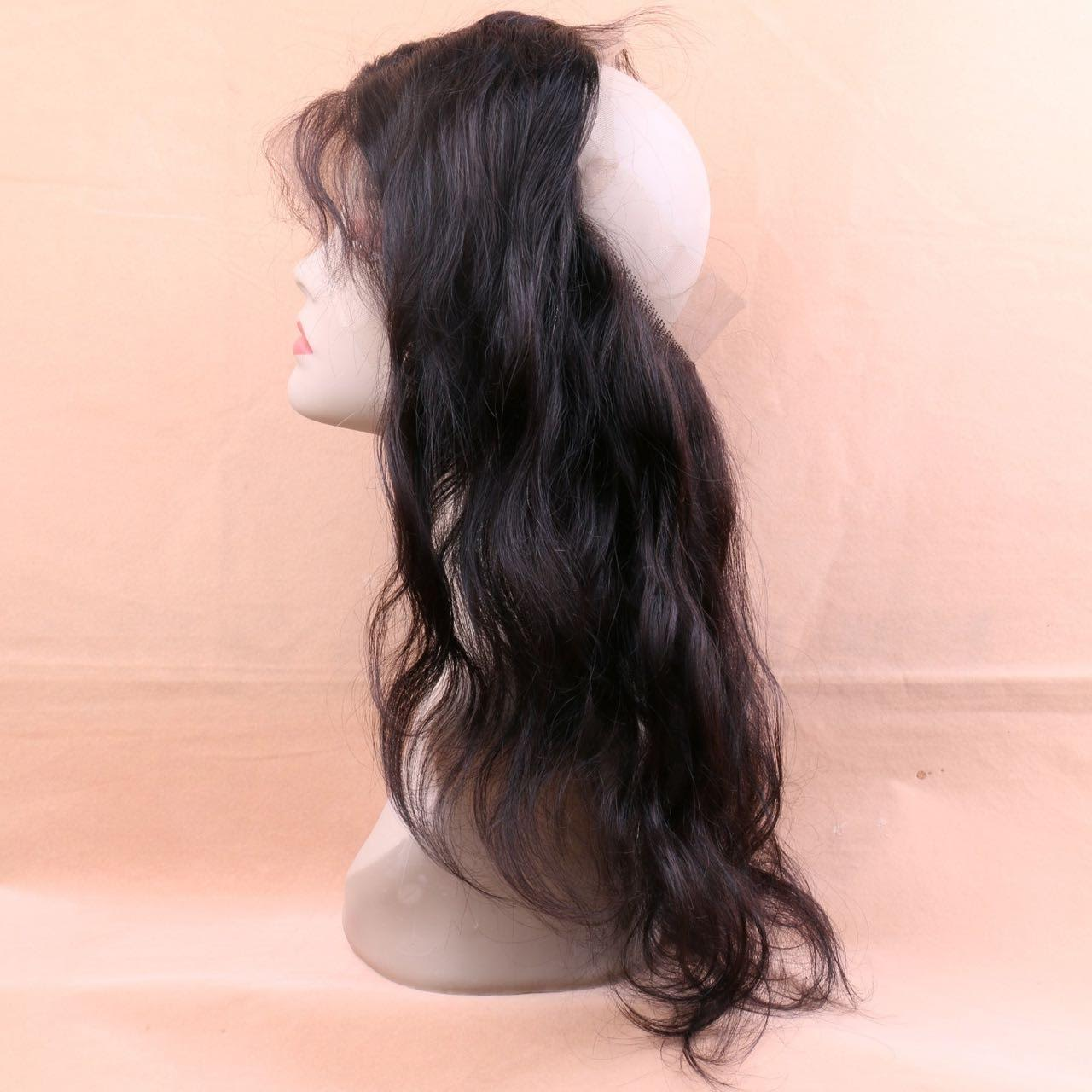 Body wave 360 human hair lace closure sideview