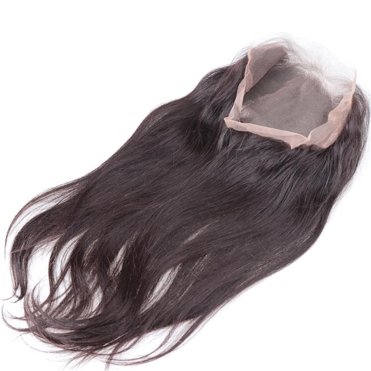 360 Human Hair Lace Closure-straight